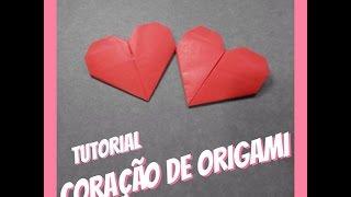 Coração de Origami - Tutorial