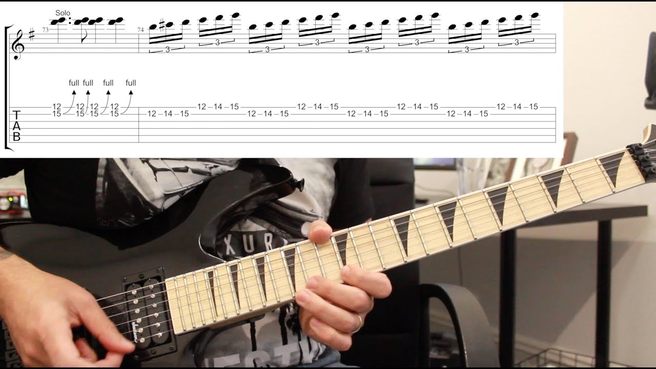 How To Play Dr Feelgood By Motley Crue Guitar Solo Lesson W Tabs Youtube