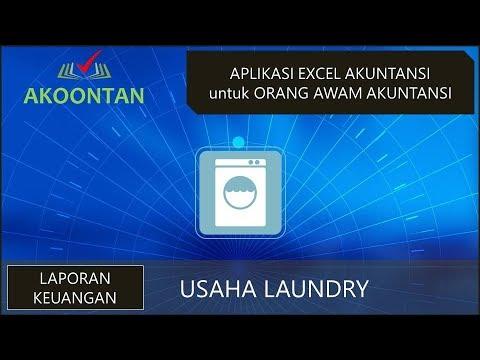 Laporan Keuangan Bisnis Laundry Youtube
