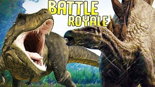 Jurassic World Evolution - Carnivore Battle Royale - Who's Strongest Carnivore? - JWE Dino Fight Pit