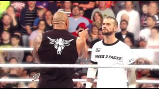 WWE CM Punk Vs The Rock - Royal Rumble 2013 promo (ESPAÑOL)