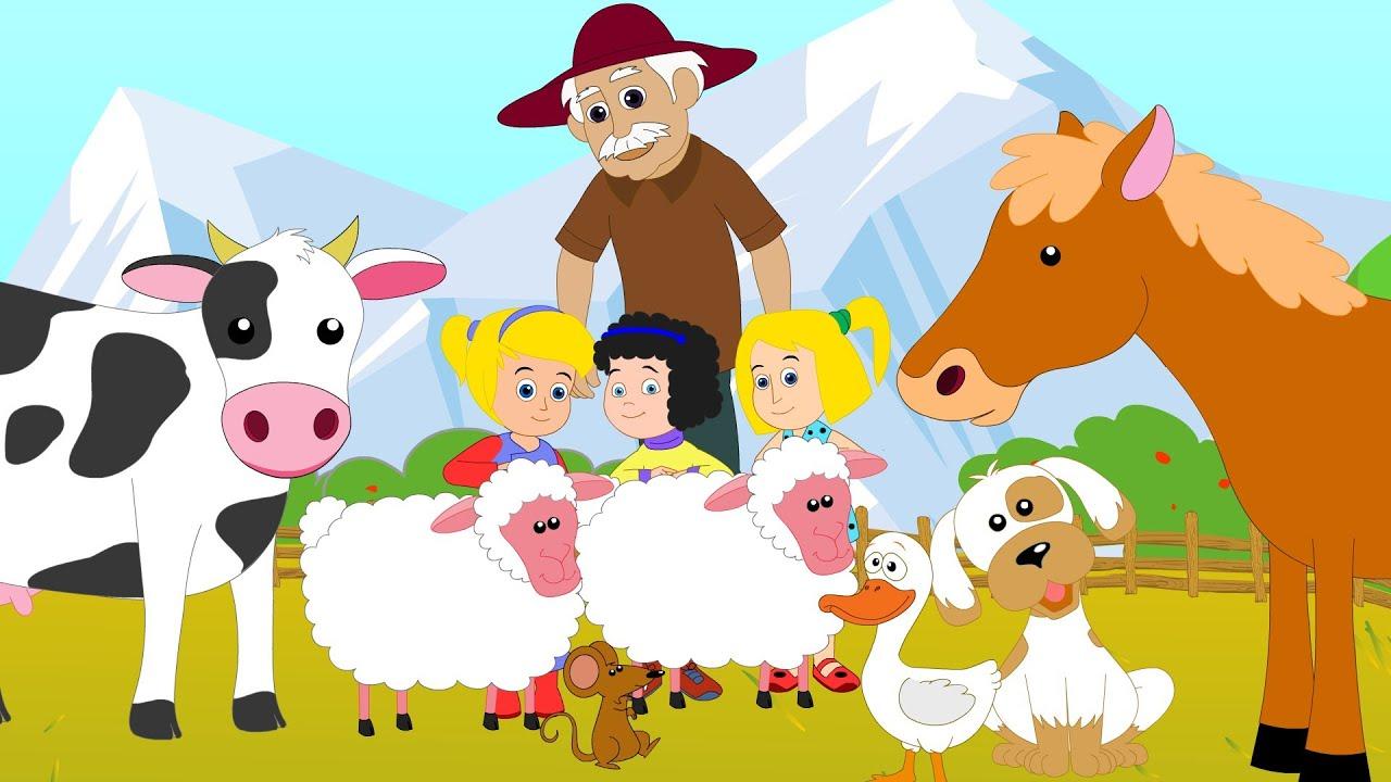Old Macdonald Had A Farm Nursery Rhyme Youtube