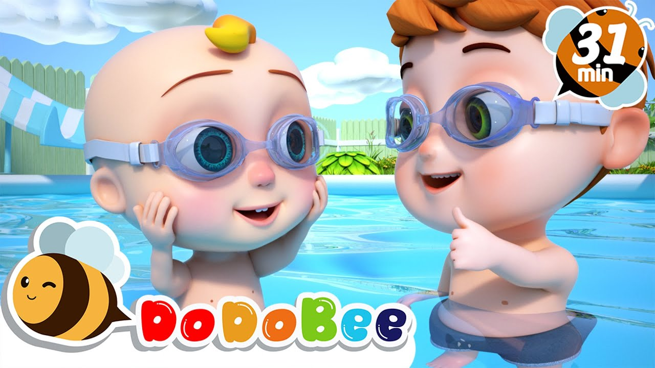 Play Safe At The Pool | Swimming Song +More Nursery Rhymes for Babies
