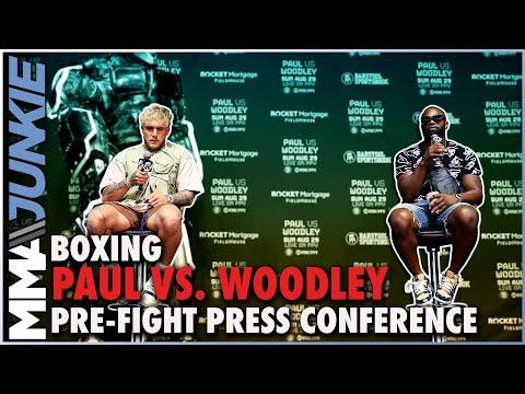 JAKE PAUL VS. TYRON WOODLEY LOS ANGELES PRESS CONFERENCE