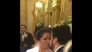 Русский каравай на свадьбе в Вене