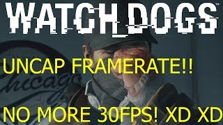 Watch Dogs PC HOW TO DISABLE 30FPS CAP With VSync ON in Fullscreen
