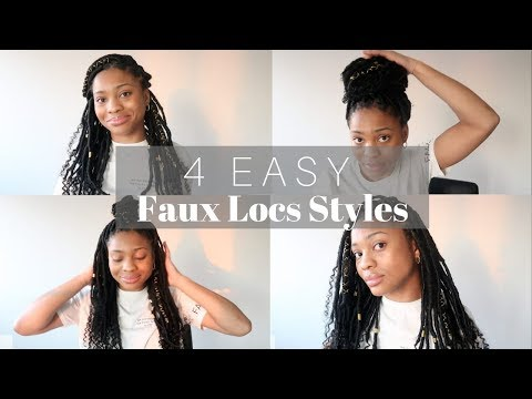4 EASY GODDESS BOHEMIAN FAUX LOCS HAIRSTYLES