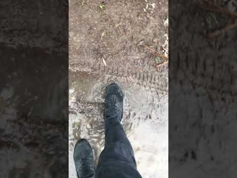 Black Nike Huarache Worn getting Dirty in Mud (Part 2)