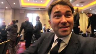 EDDIE HEARN ON BEING CALLED 'A LANKY C***' BY FRAMPTON, TALKS DRESSING ROOM ISSUE AND OFFICIALS thumbnail