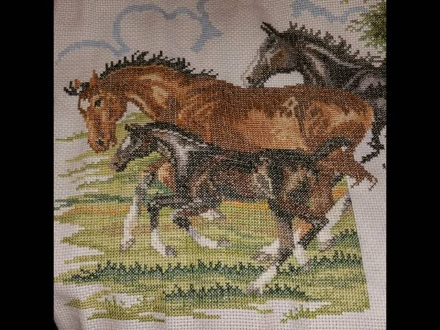 Horses With Foal Crosstitch 2
