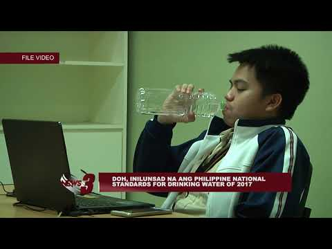 DOH, INILUNSAD NA ANG PHILIPPINE NATIONAL STANDARDS FOR DRINKING WATER OF 2017
