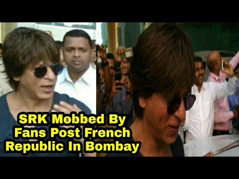 Shah Rukh Khan Mobbed By Fans Post French Embassy In Bombay