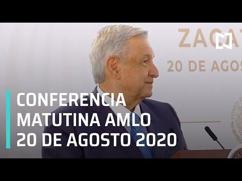 Conferencia matutina AMLO / 20 de agosto de 2020
