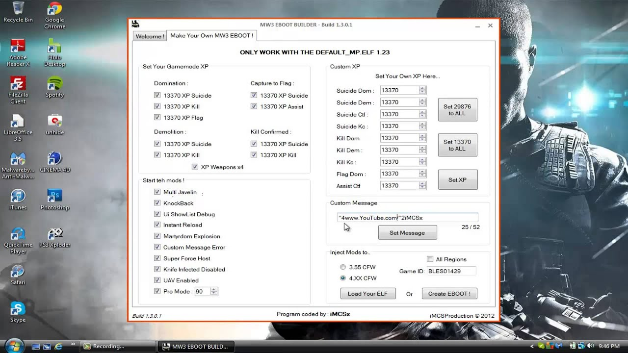 MW3: How To Use EBOOT Builder 1 5 0 0 Tutorial {3 55/4 XX/Debug CFW}
