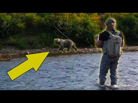 Our Camp Was INVADED By GRIZZLY Bears!! Fishing For GIANT TROUT In The Remote Wilderness
