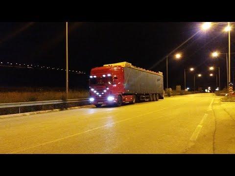 "Scania 144l 530 ""Roussas"" straight pipe sound"