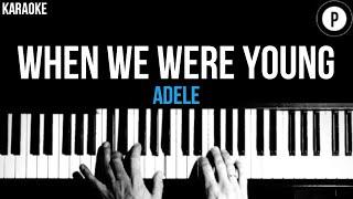 Download lagu Adele - When We Were Young Karaoke SLOWER Acoustic Piano Instrumental Cover Lyrics