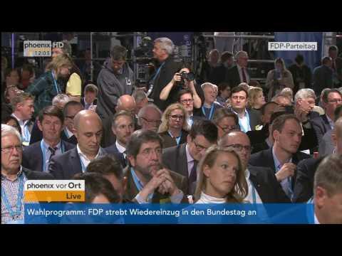 Bundesparteitag der FDP: Rede von Christian Lindner am 28.04.17