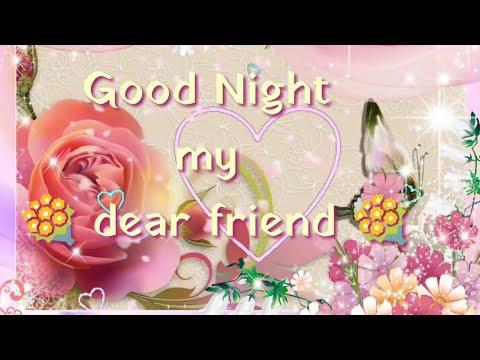 Download Good Night My Friend Sweet Whatsapp Video Message Beautiful