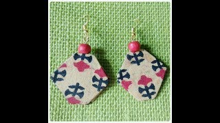 Gambar cover DIY fabric earrings /making earrings by aluminium foil /tribal earrings tutorial