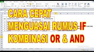 Rumus If Kombinasi Or Dan And Di Excel