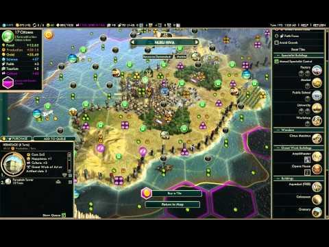 BNW - Polynesia on pangea map late game commerce-autocracy Deity Domination 1