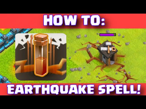 Clash Of Clans Earthquake Spell Strategy | How To Use New Earthquake Dark Spell