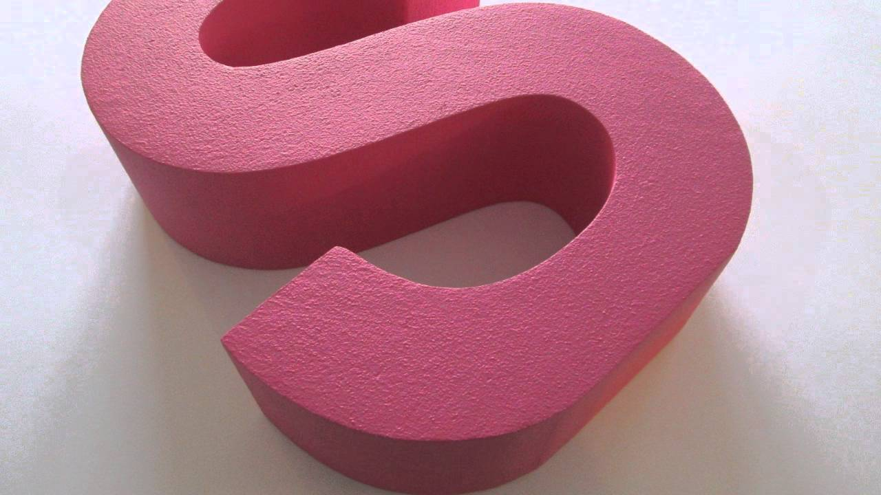 styrofoam letters for shop window displays