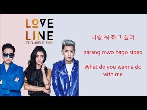 Download lagu Mp3 Hyolyn, Bumkey, Jooyoung - Love Line [Hang, Rom & Eng Lyrics]
