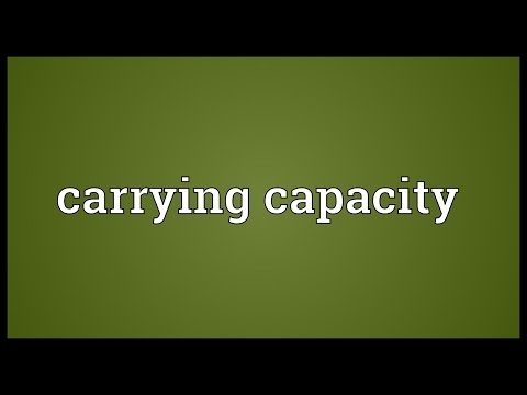 Carrying capacity Meaning