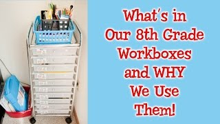 Homeschool 8th Grade Curriculum Choices And Workbox System