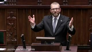 Grzegorz Braun w sejmie - pierwsze przemówienie!