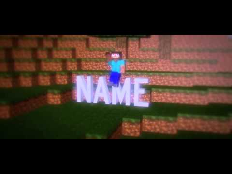 custom video intro templates - free awesome 3d minecraft intro template my first mc