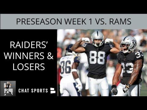 Raiders' Winners & Losers Following Oakland's Week 1 Preseason 14-3 Win Over The Los Angeles Rams