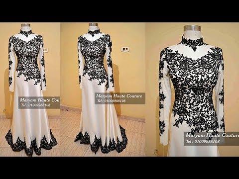 429164bcac77b فستان سهرة للمحجبات منتهى الشياكة والاناقة لون اوف وايت. Maryam Haute  Couture - مريم للأزياء الراقية