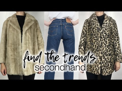 Find the trends 2ndhand: winter 2017 | Faux fur coats, Levi's jeans and more!