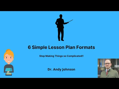 6 Simple Lesson Plan Formats - YouTube - lesson plan formats