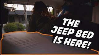 Sleeping In A Jeep Wrangler - Bed Is Here