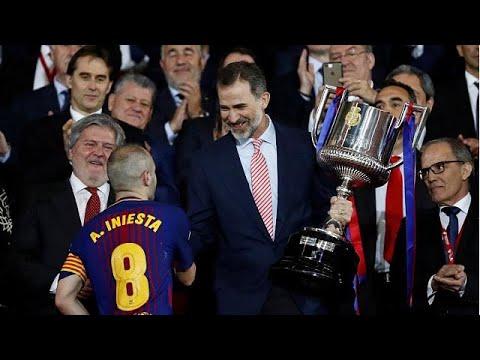 euronews (em português): A última Taça do Rei de Andrés Iniesta foi a 30.ª do Barcelona