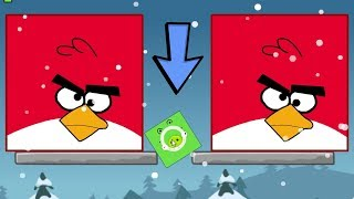 Angry Birds Kick Out Green Pigs - TRANSFORM TINY PIGGIES TO BIG TO KICK ALL HUGE BIRDS!