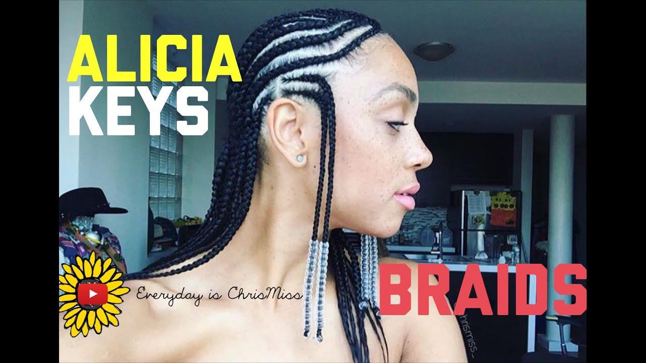 Alicia Keys Inspired Braids Youtube