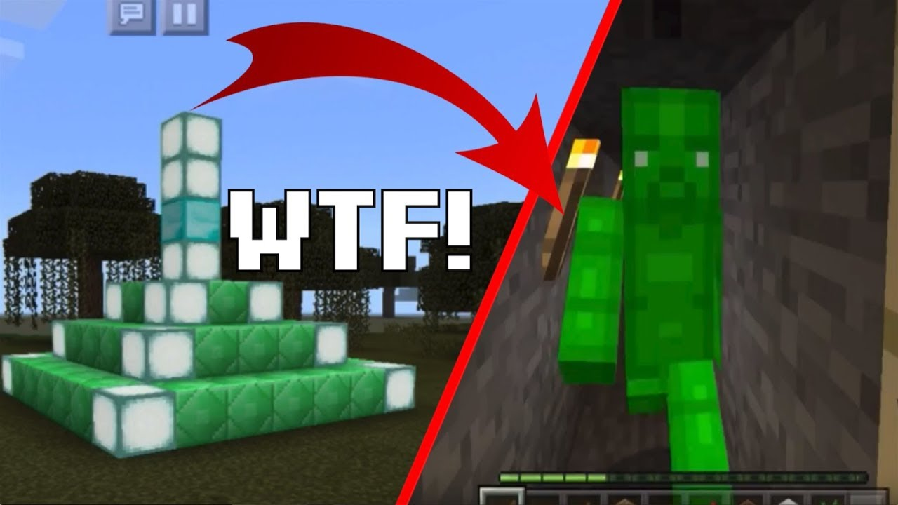 HOW TO SPAWN GREEN STEVE IN MINECRAFT PE I SPAWNED HIM