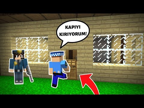 POLİSLER EVE BASKIN YAPIYOR! 😱 - Minecraft