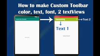 how to Create Custom Toolbar with two TextView   Android App Development