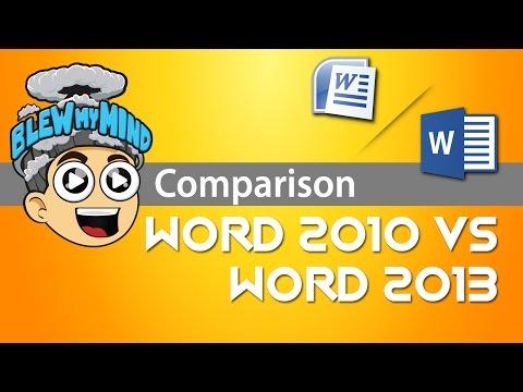 Microsoft Word 2010 vs Microsoft Word 2013 – Blew My Mind