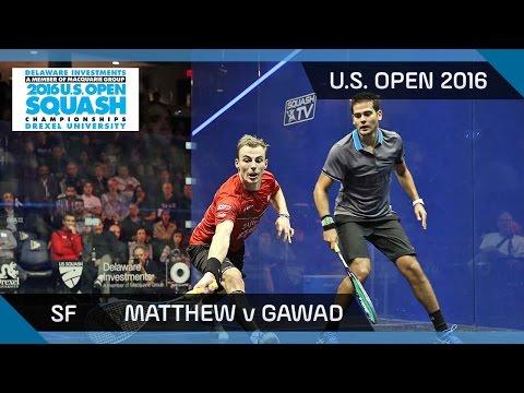 Squash: Matthew v Gawad - U.S. Open 2016 - SF Highlights