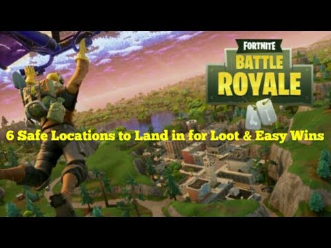 6 Safe Locations + ( Lucky Landing ) to Land in for Loot and Easy Wins