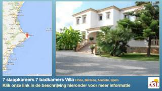 7 slaapkamers 7 badkamers Villa te Koop in Finca, Benissa, Alicante, Spain