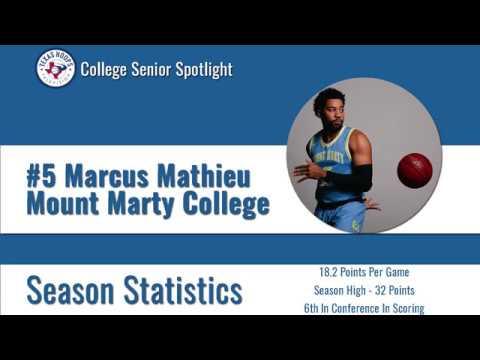 Senior Marcus Mathieu - Mount Marty College
