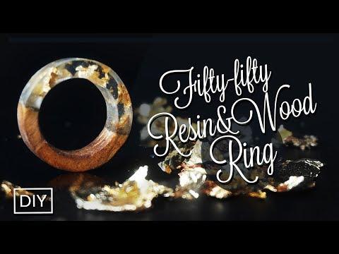 Fiifty-Fifty (Resin & Wood) Ring DIY